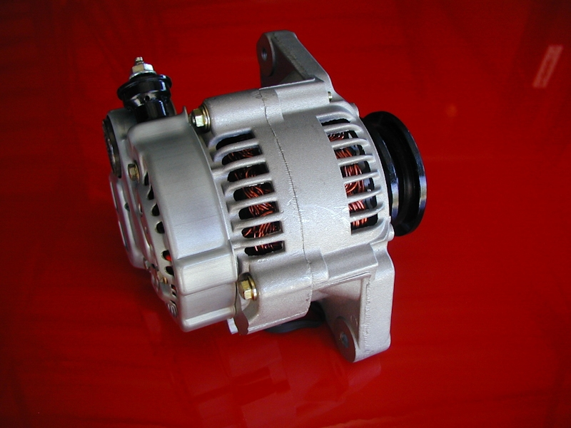 A106 large 12 volt, 85 amp, super mini denso racing alternator One Wire Alternator Installation at panicattacktreatment.co